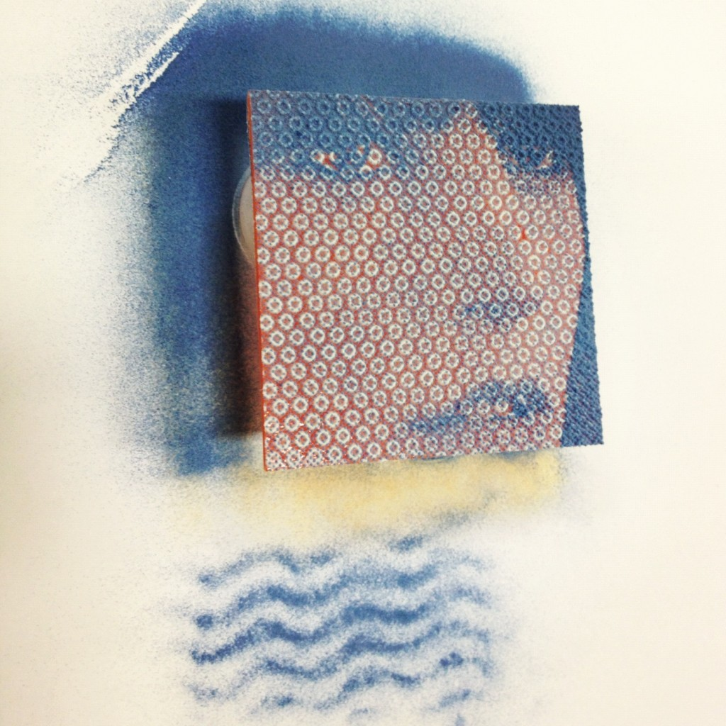student's powder print, before being fused