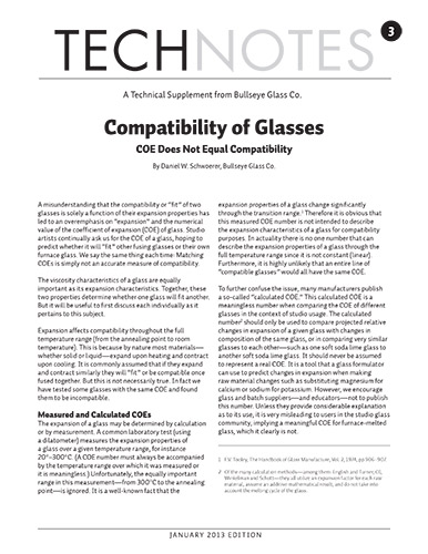technote 3: what are the properties that make two pieces of glass compatible?