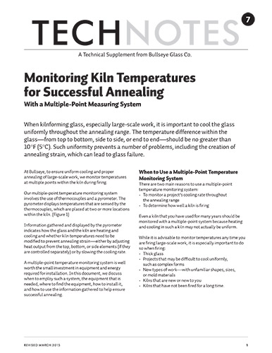 technote 7: know what kind of heat your kiln produces to ensure successful annealing
