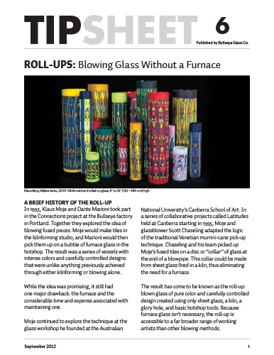 glass fusing tips: roll ups