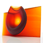 Crossover: Ashraf Hanna, 'Amber red vessel form'