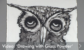 Video: Drawing with Glass Powder