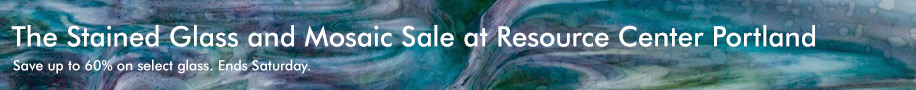 The The Stained Glass and Mosaic Sale at Resource Center Portland. Save up to 60% on select glass. Ends Saturday.