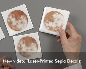 Video: Laser-Printed Sepia Decals