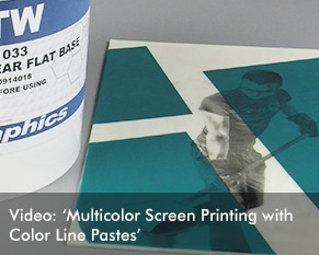 Multicolor Screen Printing with Color Line Pastes