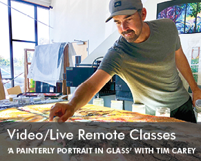 Painterly Portrait in Glass with Tim Carey