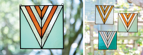 Contemporary Stained Glass Panels