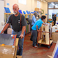 Customers stocking up on glass during the Resource Center's Spring Sale