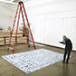 Preparing a large-scale glass work at the Bay Area Gallery