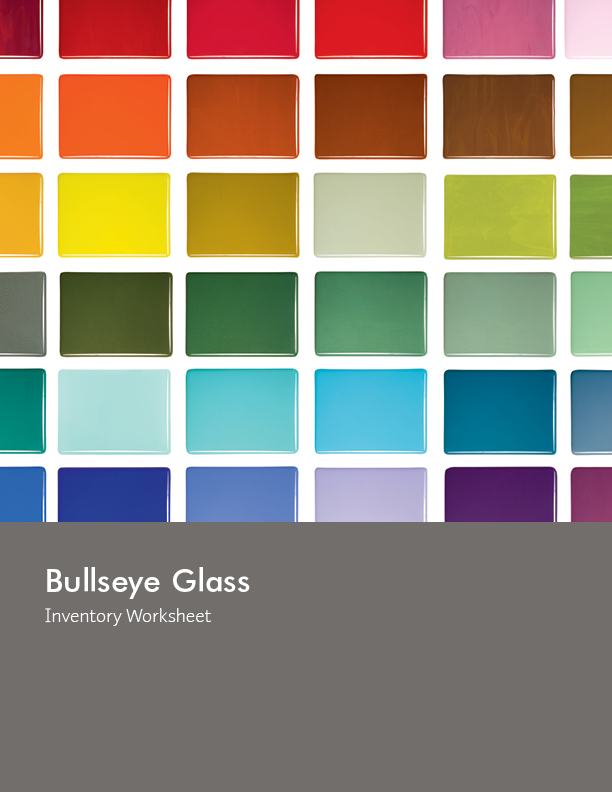 Bullseye Glass Inventory Worksheet