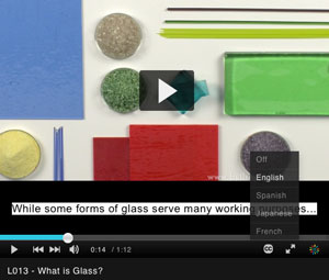 bullseye glass fusing educational videos available with english subtitles
