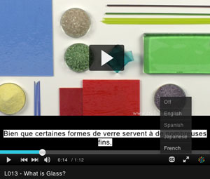 bullseye educational kilnforming videos translations available in francaise